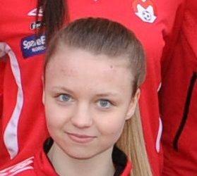 Toppscorer Malene Fikseth Jakobsen fra Mjølner.