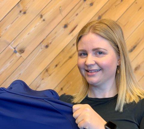 NY JOBB: Lillian Alstadsæther Fahlvik (37) fra Haugesund begynte i ny jobb etter påske.