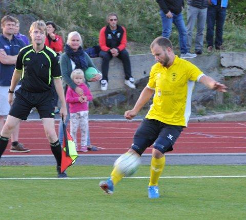 Hattrick: Håvard Kleven scoret tre ganger da Kragerø slo Brevik borte 5-3. Arkivfoto: Per Eckholdt