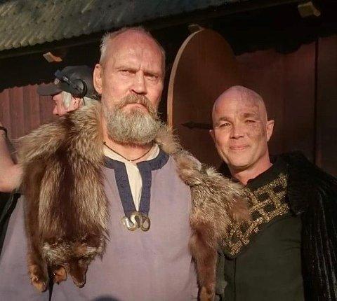 SKUESPILLER: Hans Olaf Hess og Jon Øigarden i TV-serien Vikingane