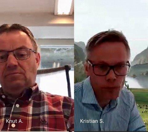 Avviser: Ordfører Knut Arne Fjelltun og kommunedirektør Kristian Damstuen avviser at det politiske møtet ble lukket for å legge lokk på en offentlig diskusjon.