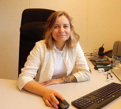 Er på plass: Paulina Zvezdova (25) har allerede startet i jobben, og hun er den aller første til å bekle stillingen i kommunen.