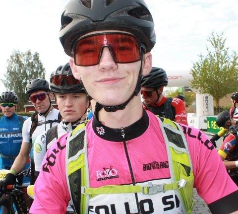 FØRSTEREIS: Fredrik Breier var en av debutantene i Birkebeinerrittet. Den første turen over fjellet ga mersmak for den unge Enebakk-syklisten.