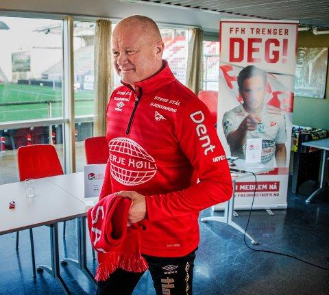 STARTER MOT KRÅKERØY: Per-Mathias Høgmo presentert første kamp som FFK-trener blir mot Kråkerøy. Foto: Geir A. Carlsson