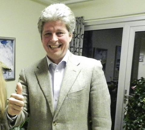 TOMMEL OPP: Alf Ulven (H) er fornøyd med at Aremark kommunestyre ble enige i vannverkssaken, om neste års budsjett og den framtidige økonoiplanen før de tok juleferie.
