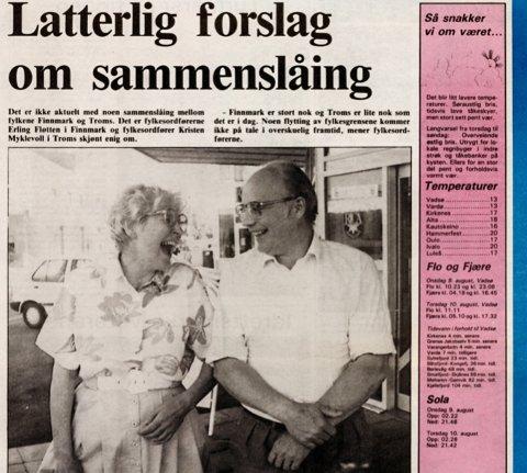 –  FORTSATT ET DÅRLIG FORSLAG: Fungerende fylkesordfører Tarjei Jensen Bech (Ap) mener sammenslåing fortsatt er en like dårlige idé 30 år etter, men biter seg merke i at argumentasjonen ikke har endret seg siden den gang.