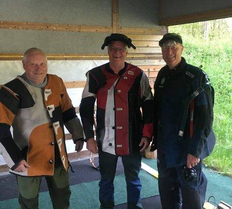 SKJØT GODT: ROVs lag, som ga Jondalen hard kamp. Fra venstre: Severin Helgesplass, John Melvin Tveiten og Narve Fulsås. FOTO: ROV