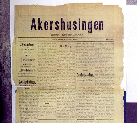 1902: «Akershusingen» kom ut første gang i 1902. Skiftet navn til Romerikes Blad i juli 1905.