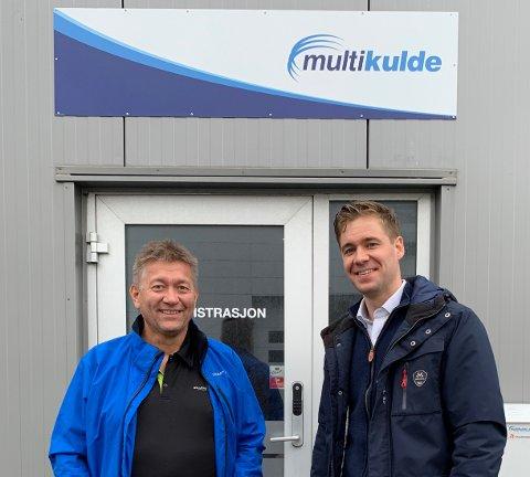 Fra venstre: Mikael Andersen, daglig leder Multi Kulde AS, og Martin Schjølberg, ansvar for markedsområdet kommersiell og klima i PTG.