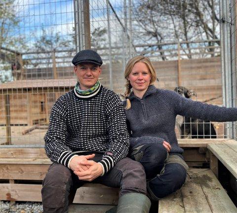 HUNDEKJØRING: For Pernille Rebo og Stian Wold går mye av tiden i hverdagen til de 12 hundene deres.