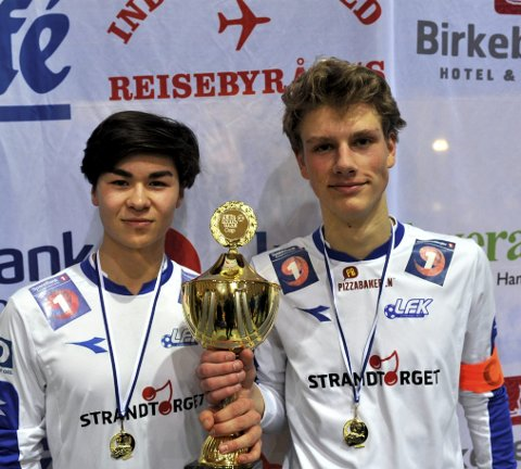Vant: Simen Berg (t.v.) og Mads Roald var godt fornøyde etter å ha vunnet Lillehammer cup. Alle foto: Andreas Røsjorde Lindstad