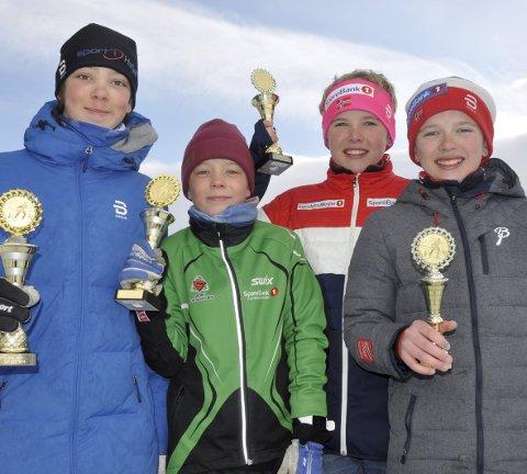Jørgen Landmark Johansen (f.v.), Simen Landmark Johansen, Edvald Smogeli Opsann og Oscar Smogeli Opsann har imponert i GD-cupen denne sesongen. Alle foto: Geir Teigøyen