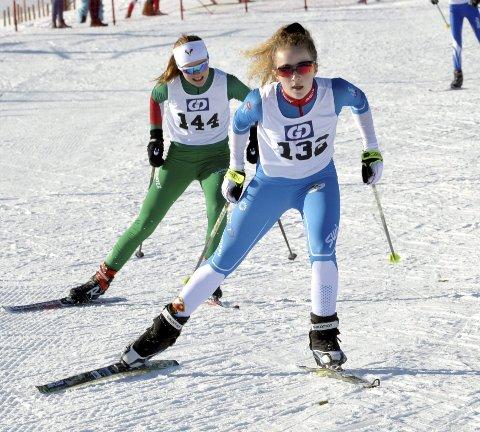 JUBEL: Ruby Serrouya kommer fra Canada, men har bodd i Lillehammer i fem måneder og benyttet anledningen til å delta i GD-cupen. Det endte med sprintseier i Øyersprinten. Alle foto: Kjell H. Vollan
