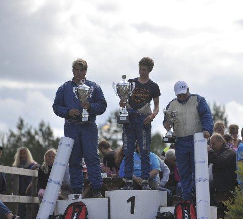 2. plass: Mats Åsheim, fra Trysil, (t.v)  kom på 2. plass bak Joackim Grønvold, fra Drammen, (i midten). På 3. plass kom Mats Bakkom, fra Hamar (t.h)