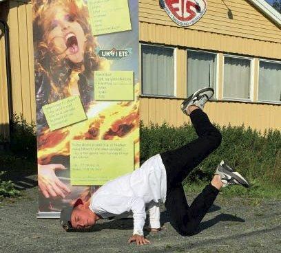 Nominert: Vinicjuzh Kowalezyk fra Evenes er nominert til Drømmestipendet fordi han er en talentfull breakdanser.
