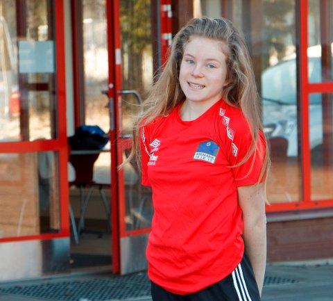 RASK: Henriette Jæger klinket til med ny kretsrekord på 100 meter.