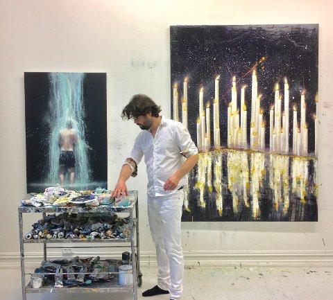 Frank Brunner er ein svært anerkjent kunstnar, og frå laurdag 15. juni kan du sjå verka hans i Galleri G Guddal. (Pressefoto).