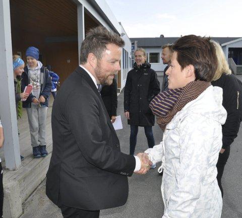 LÆRERMANGEL: Rektor Danielle Olavsen ga klart uttrykk for at noe må gjøres for å få flere til å bli lærere.