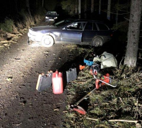 FANT VERKTØY: 24. januar fikk politiet tips fra en privatperson om at det kunne være noen tyver på ferde i området Kubberød i Rygge. Det viste seg å være korrekt. Nå er de to polske mennene dømt.