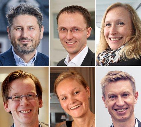 KANDIDATER: Ronni Møller-Pettersen, Brynjolv Anke, Renate Larsen, Yngve Haldorsen, Asta Lassesen og Bengt Olsen.