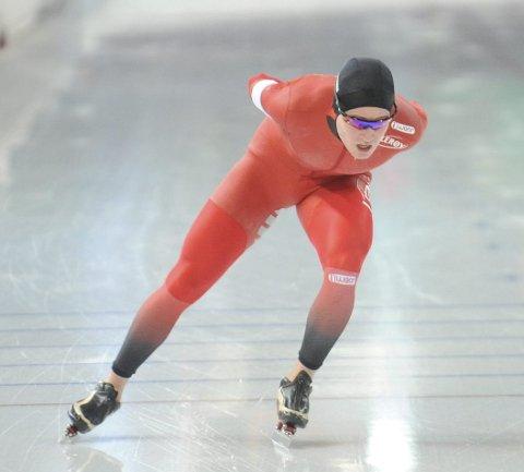 SØLVGUTT: Ole Bjørnsmoen Næss ble nummer to på 10.000-meteren under NM i Vikingskipet, kun slått av Håvard Bøkko.