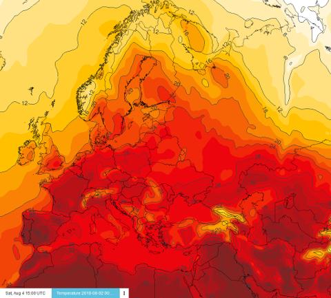 CICERO, Meteorologisk institutt og UiO presenterte torsdag oppdaterte tall og fakta om årets varmerekorder. Illustrasjonsbilde. Foto: Faksimile (Meteorologisk institutt)