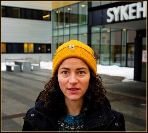 JOBBET PÅ KALNES: Før hun begynte i Leger uten grenser, og like etter åpningen i 2015, jobbet Zazie på Sykehuset Østfold Kalnes.