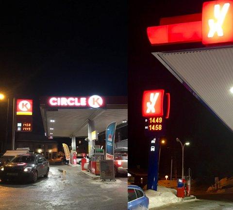 Ulik praksis: YX Fagernes oppgir pumpepris på diesel og bensin over telefon, mens Circle K nekter.