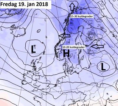 Fredag 19.januar varsler Storm dette kartet.