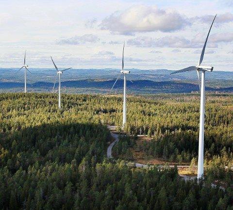 TIL RETTEN: Vindkraftutbyggingen i blant annet Nord-Odal kan havne i retten. Bildet er fra Ludvika i Sverige.