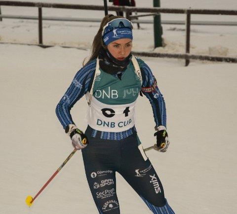 HOLDT ROEN: Ine Skjellum ble nummer ni på sprinten på Lygna søndag.