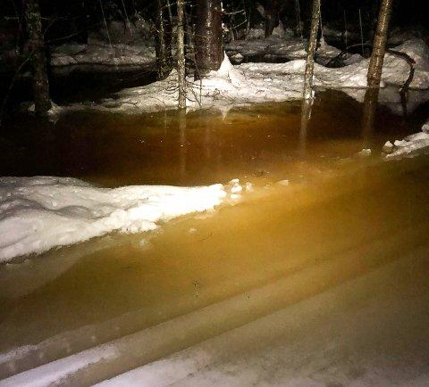 MYE VANN: Enkelte steder i løypenettet i Botnemarka er satt under vann.