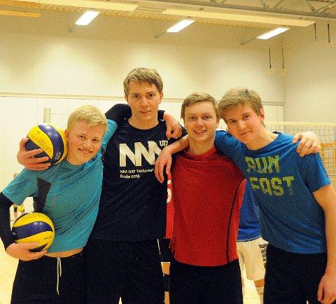 KLAR FOR NM: Andreas Raastad, Vetle Harnes, Olav Bragnes og Trym Tveito gleder seg til å spille NM kommende helg.