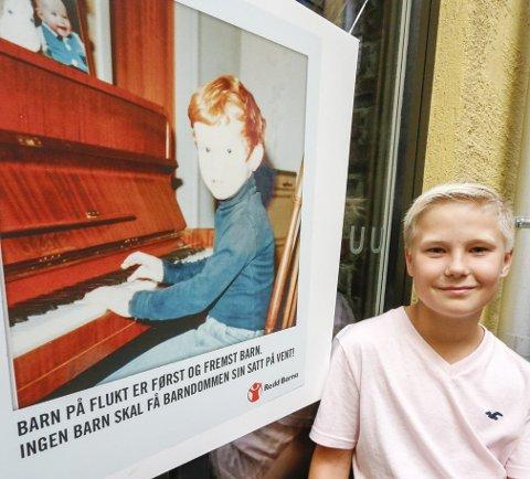 ENGASJERT: Daniel Rishaug Kjos (12) trives med å være Redd Barna-ambassadør.