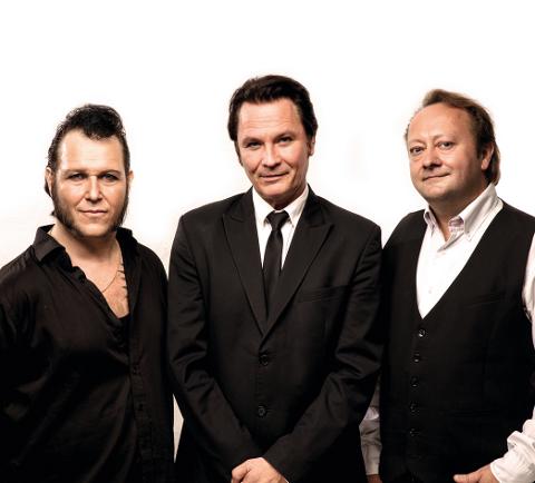 Vidar Busk, Paal Flaata og Spephen Ackles utgjør trioen The FAB-3 som har konsert i Eidsberg kirke 11. oktober. Pressefoto