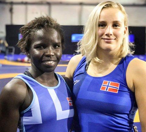 FREDRIKSTAD: Grace Bullen og Iselin Moen Solheim har blitt treningspartnere i Fredrikstad. Begge vil til OL.