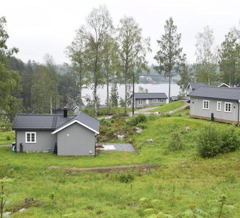 Skal bli fint: Merkantilbygg er i ferd med å skape et idyllisk område ved Lyseren. Men ikke alle hytteeierne er fornøyd med omgivelsene rundt hyttene sine.
