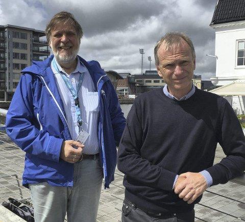 Maktskifte: Peter Kuran (til venstre) ble slått i kampvotering om formannskapsplass. Truls Velgaard vant. Arkivfoto: Øivind Lågbu