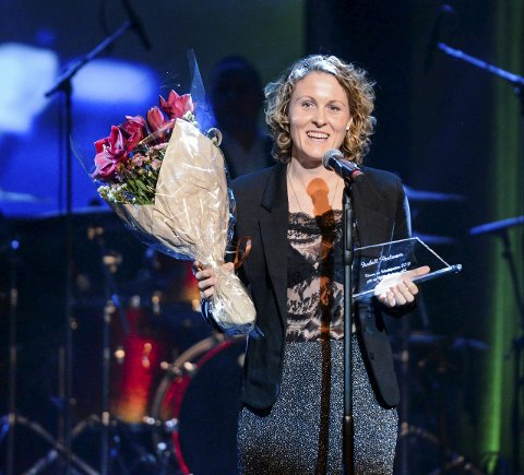 Glad: Isabell Herlovsen var glad og overrasket over å få tildelt idrettsprisen på Frederikprisen lørdag kveld. foto: kent inge olsen