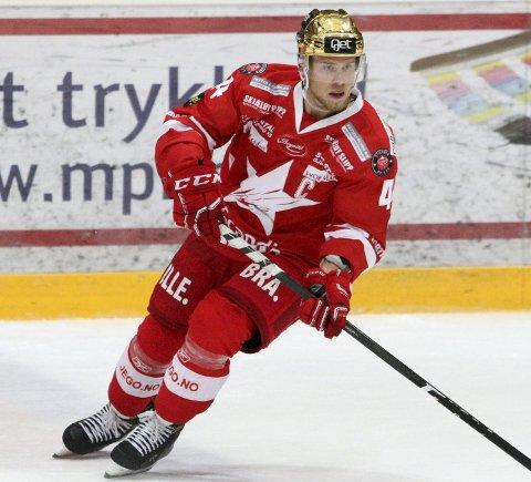 TILBAKE: Victor Backman var tilbake på isen mot Stavanger Oilers torsdag.