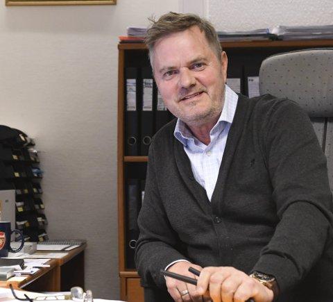 REKORDÅR: Johnny Bolle er fornøyd med rekordår for Jenssen & Bolle Eiendomsmegling. Arkivfoto: Frode Danielsen