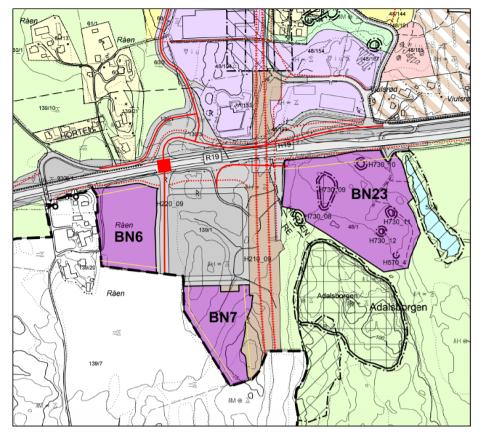 NEI: Det er området som har fått navnet BN23 som nå ser ut til å bli vraket. Dermed står man igjen med BN6 og BN7 - begge dyrket mark.