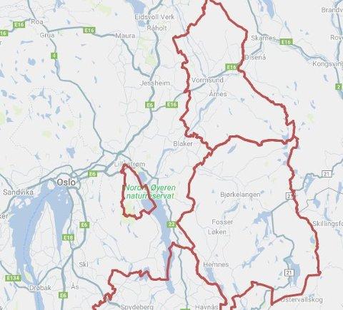 RAMMET: Kartet viser at hvilke kommuner som er rammet av strømbrudd.