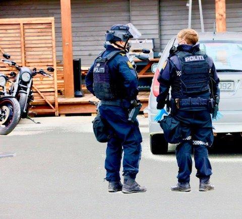 POLITIAKSJON: Onsdag ettermiddag var politiet på en politiaksjon i Tromsdalen.