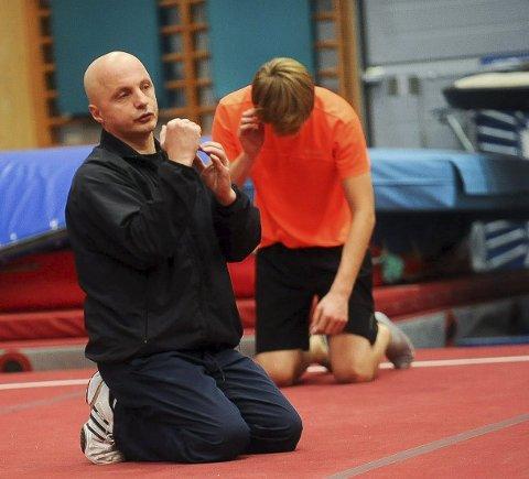 Trener: Alexandru Pop er turntrener i Elverum. Nå skal han også trene turnerne til Rena. Foto: Magnus Torp Antonsen Bildetekst