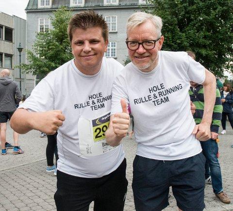 TIDLIGSTART: Christoffer Robin Vaet og rådmann i Hole, Torger Ødgaard løp sammen for andre gang.