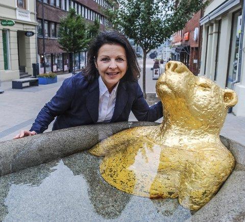 SARPSBORG-PATRIOT: Bente Kjenstad Jæger gleder seg til å jobbe for vekst og utvikling i byen sin.
