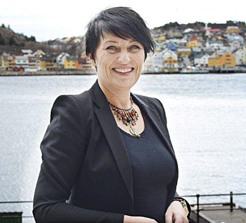 FORNØYD: Mette Belden som topper for Nordmørslista, er fornøyd med utviklingen.