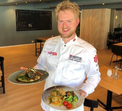 NYTT KONSEPT: Kokk Christian Mathiassen har tatt over mat-ansvaret på Maritim og har utviklet et konsept han er sikker på at kommer til å falle i smak hos de lokale innbyggerne.