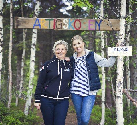 Familieprosjekt: Mamma Unni Storhaug og datteren Hege Didriksen har brukt over ett år på å sette opp Artigskogen i Styrkesnes. Planen er at den skal inneholde noe nytt til hver sesong, for å glede både barn og voksne.